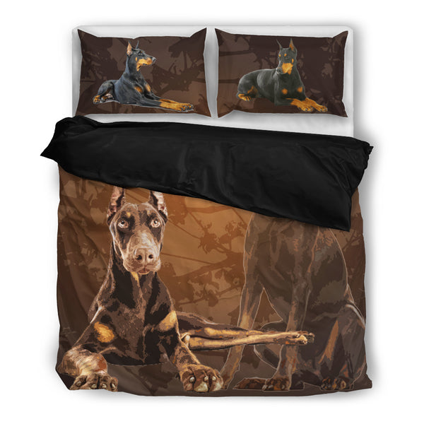 Doberman 4 Duvet Bedding Set Black