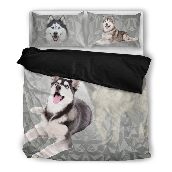 Husky 4 Duvet Bedding Set Black