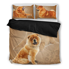 Chow Chow 4 Duvet Bedding Set Black