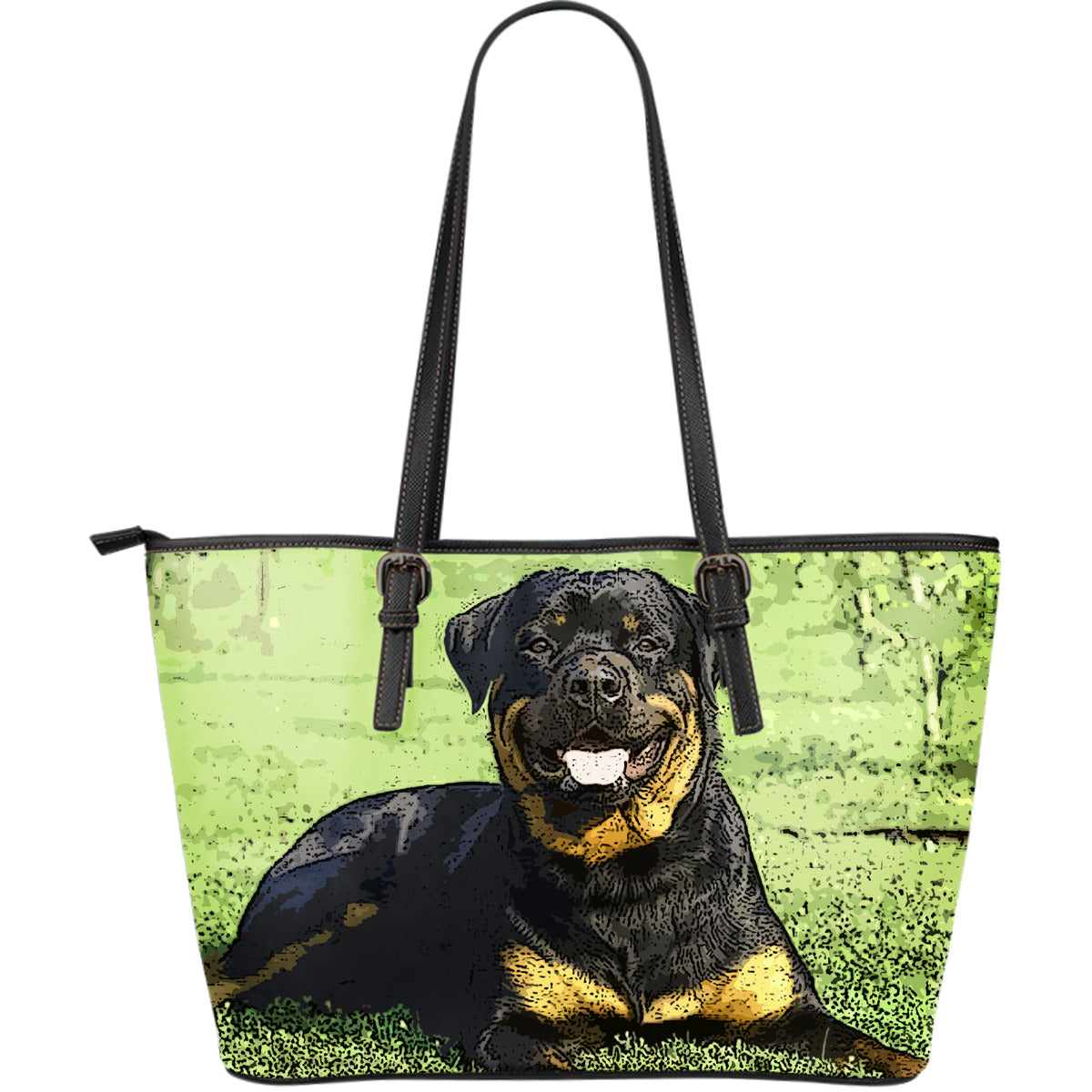 RottWeiler Large Leather Tote Bag