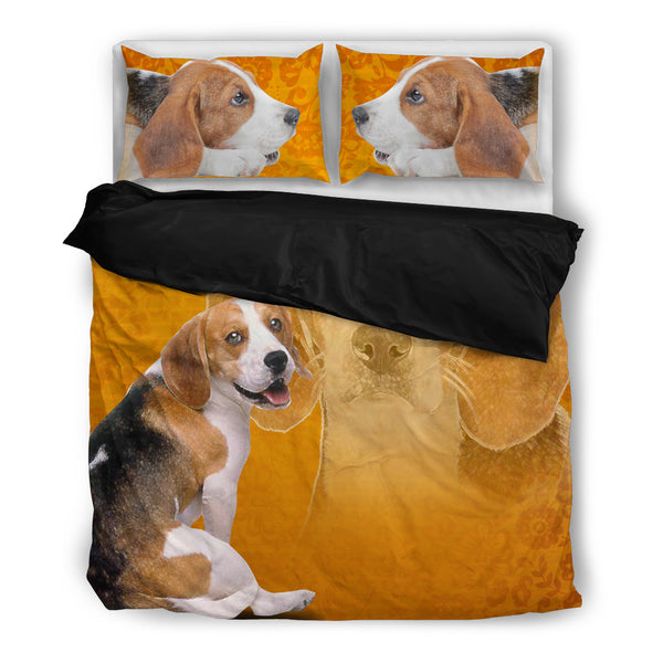 Beagle 4 Duvet Bedding Set Black