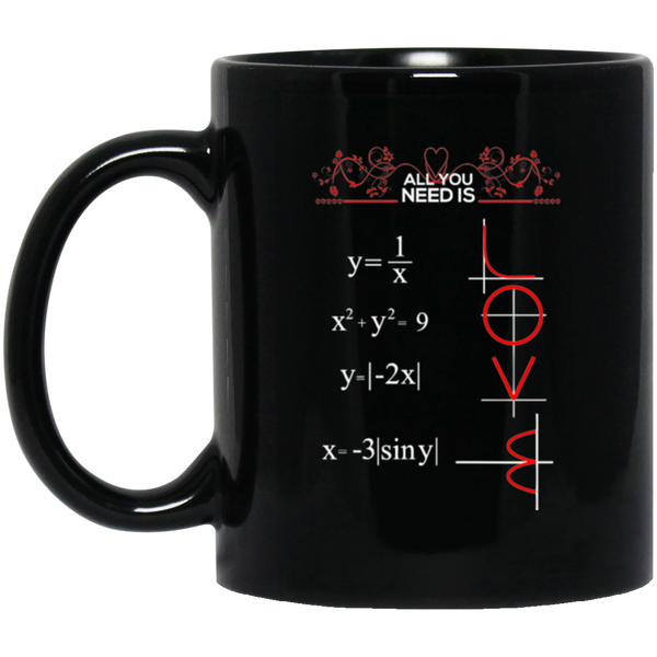 All You Need is Love and Math Coffee Mug