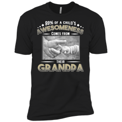 99% of Child's Awesomeness Comes From Their Grandpa T-shirt