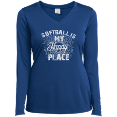 Softball Is My Happy Place L/S T-shirt
