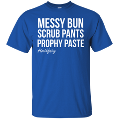 Messy Bun Scrub Pants Prophy Paste T-shirt