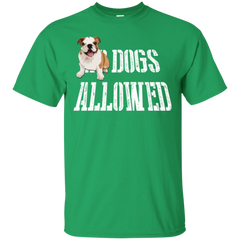 Dogs Allowed Bulldog T-shirt
