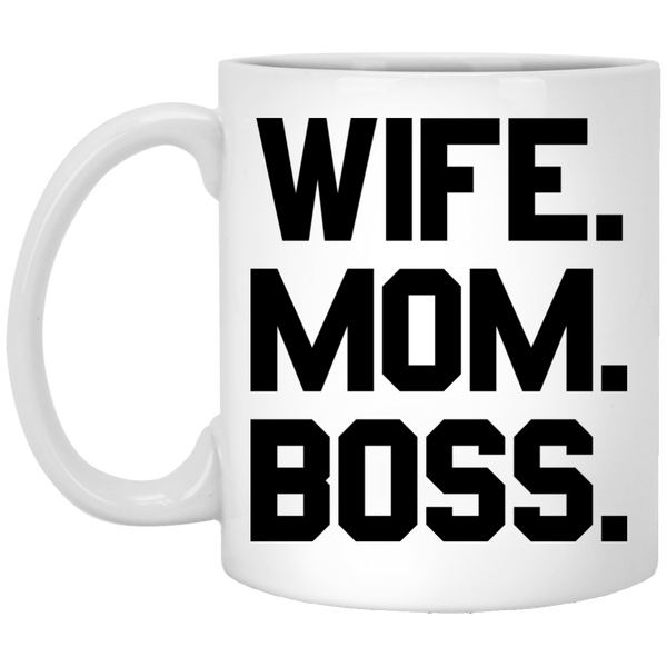 Wife Mom Boss Coffee Mug