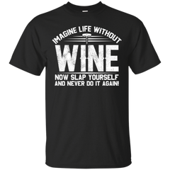 Imagine Life Without Wine Now Slap Yourself And Never Do It Again T-shirt