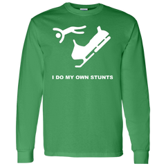 I Do My Own Stunts Snowmobiler T-shirt