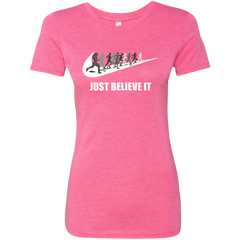 Just Believe It Running Ladies T-shirt