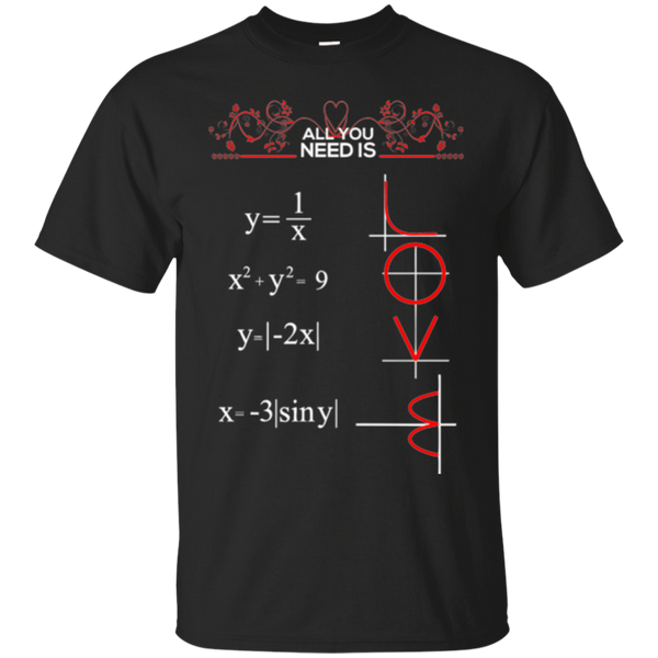 All You Need is Love and Math T Shirt