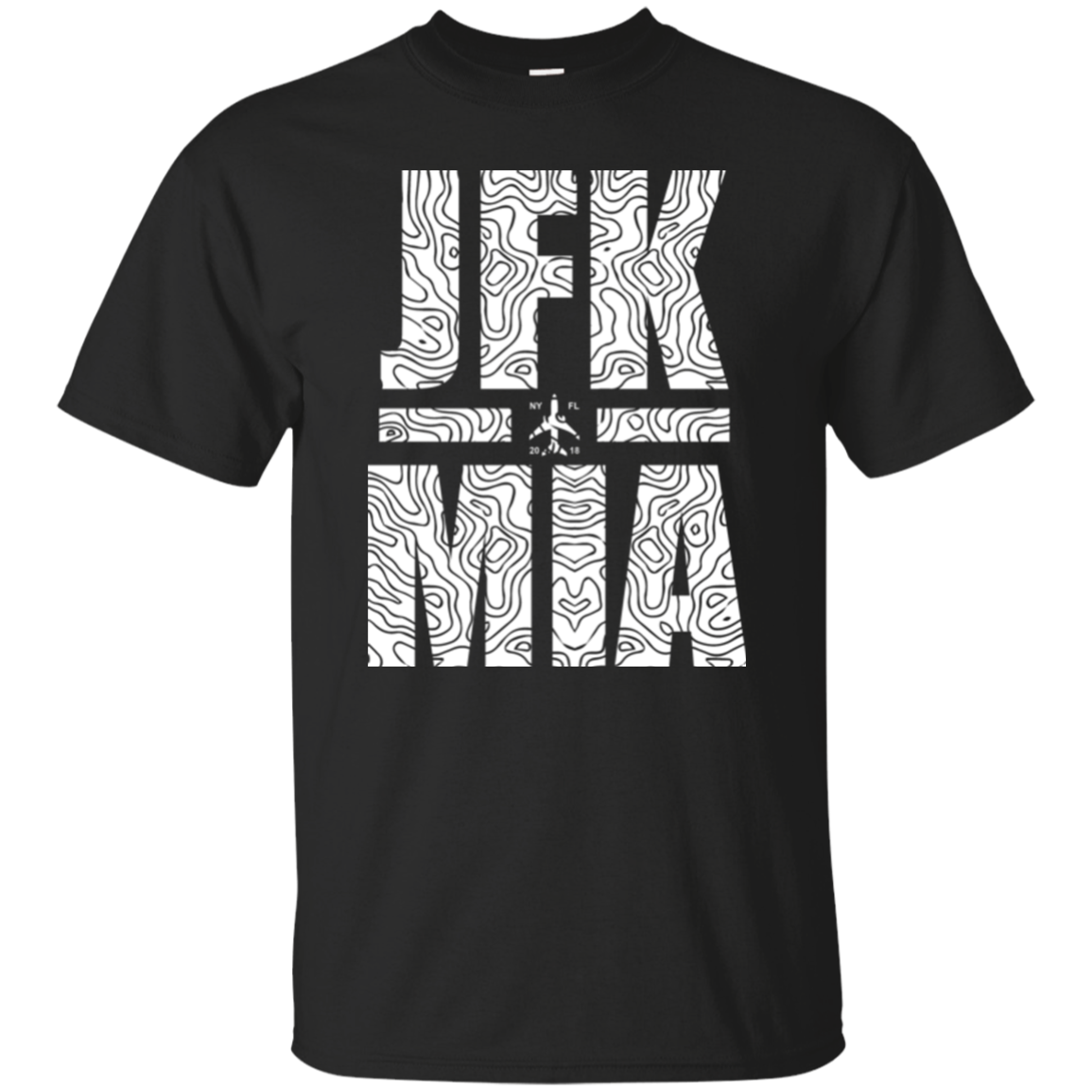 JFK to MIA Travel T-shirt