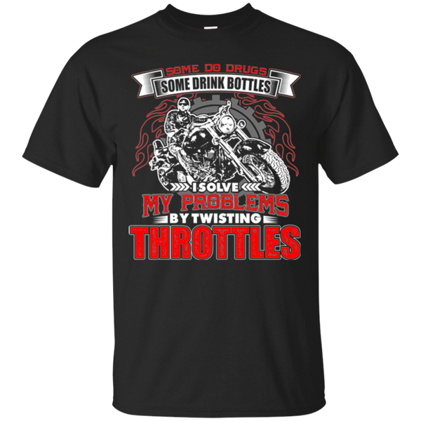 I Solve My Problems By Twisting Throttles Motocross T-shirt