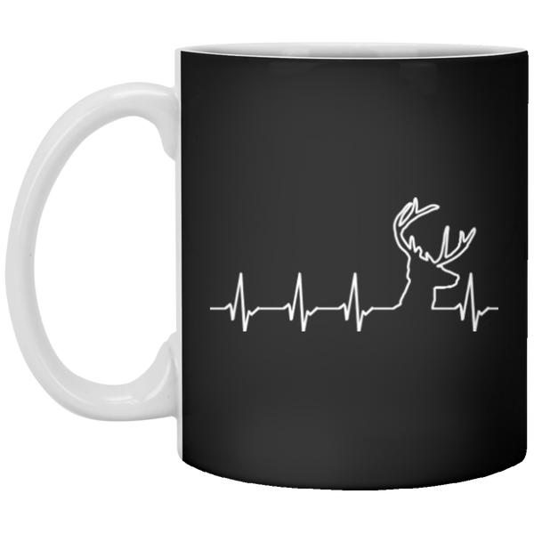 Deer Hunting Heartbeat Mug