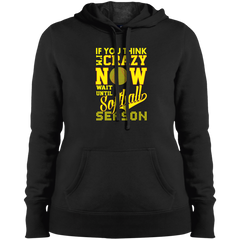 If You Think I'm Crazy Softball Hoodie