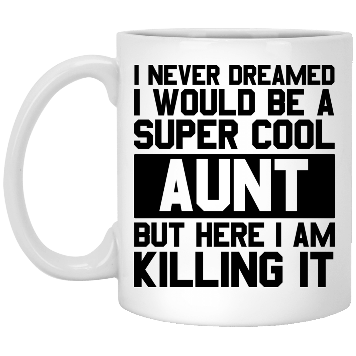 I Never Dreamed I Would Be A Super Cool Aunt Coffee Mug