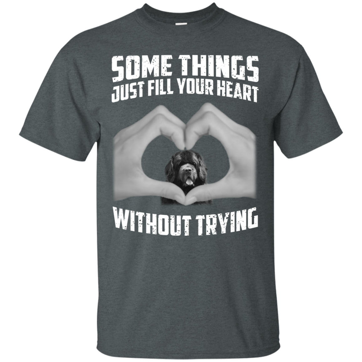 Some Things Just Fill Your Heart Without Trying Newfoundland Love T-shirt