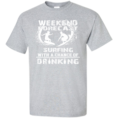 Weekend Forecast Surfing T-shirt