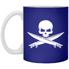 Surfing Crossbones Drinkware Mug