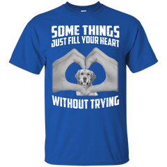 Some Things Just Fill Your Heart Without Trying Golden Retriever Love T-shirt