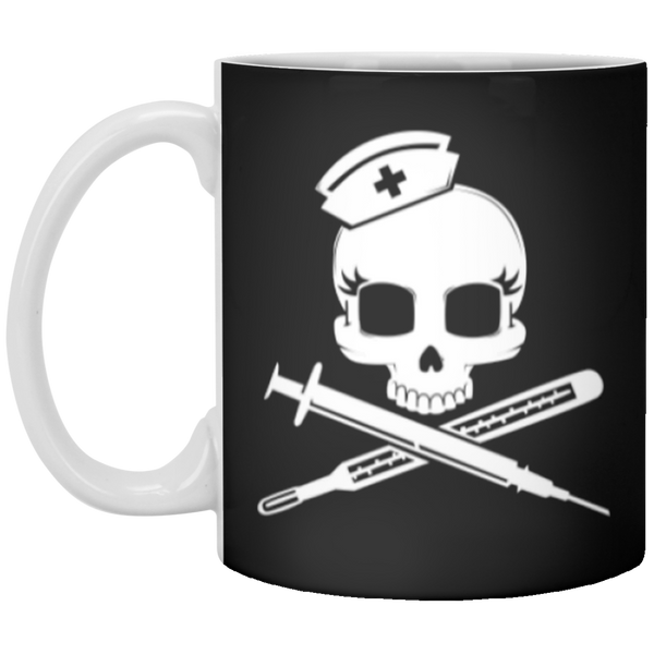 Nurse Crossbones Drinkware Mug