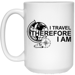 I Travel Therefore I Am Coffee Mug