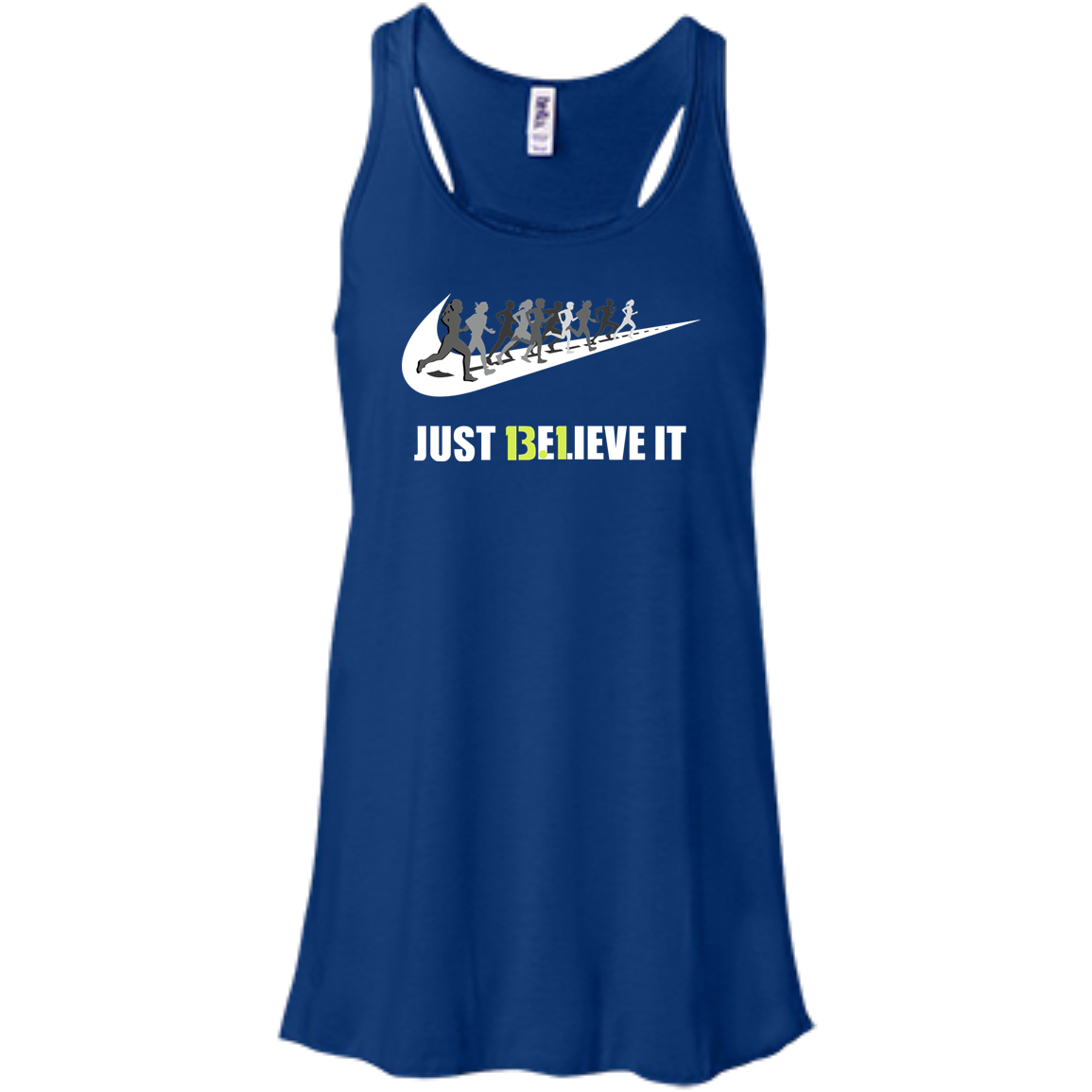 13.1 Just Believe It Half Marathon Ladies T-shirt