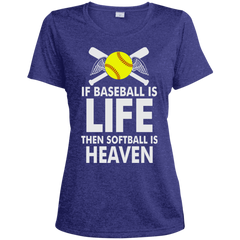 Softball Is Heaven Ladies Hoodie