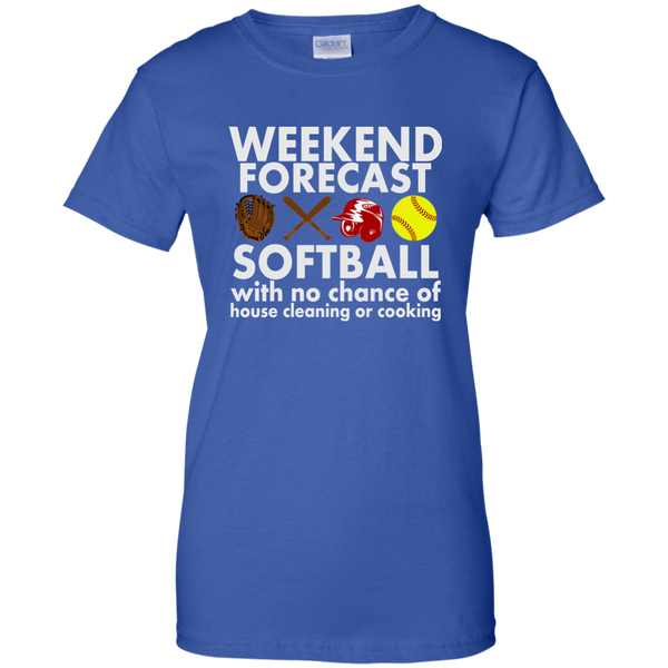Weekend Forecast Softball T-shirt
