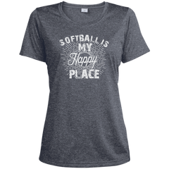 Softball Is My Happy Place T-shirt
