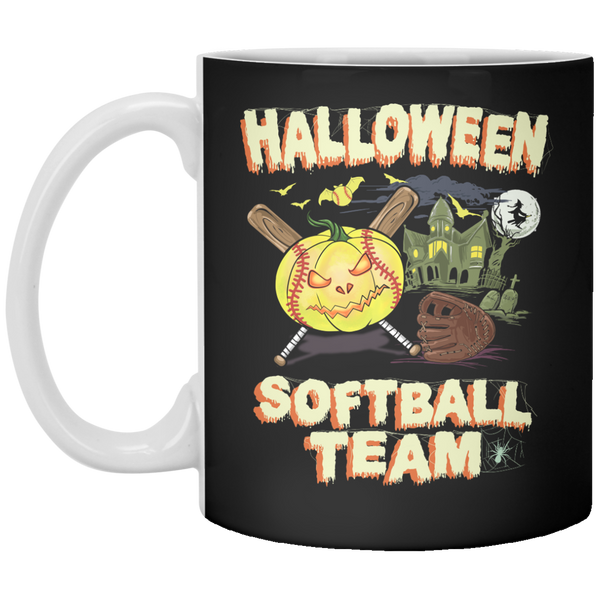 Halloween Softball Drinkware Mug
