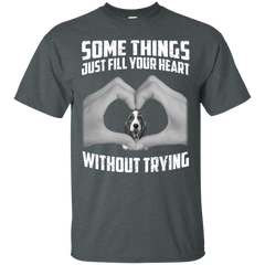 Some Things Just Fill Your Heart Without Trying Basset Hound Love T-shirt