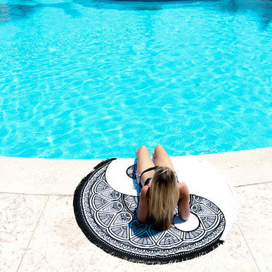 The Ying & Yang Round Towel by The Round Towel Co
