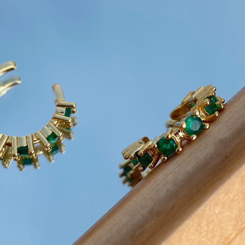 The Emerald Ear Cuff