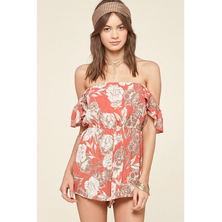 Kiss & Tell Romper by Amuse Society
