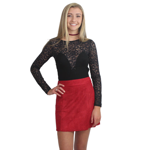 Veronica Faux Suede Mini Skirt by Somedays Lovin'