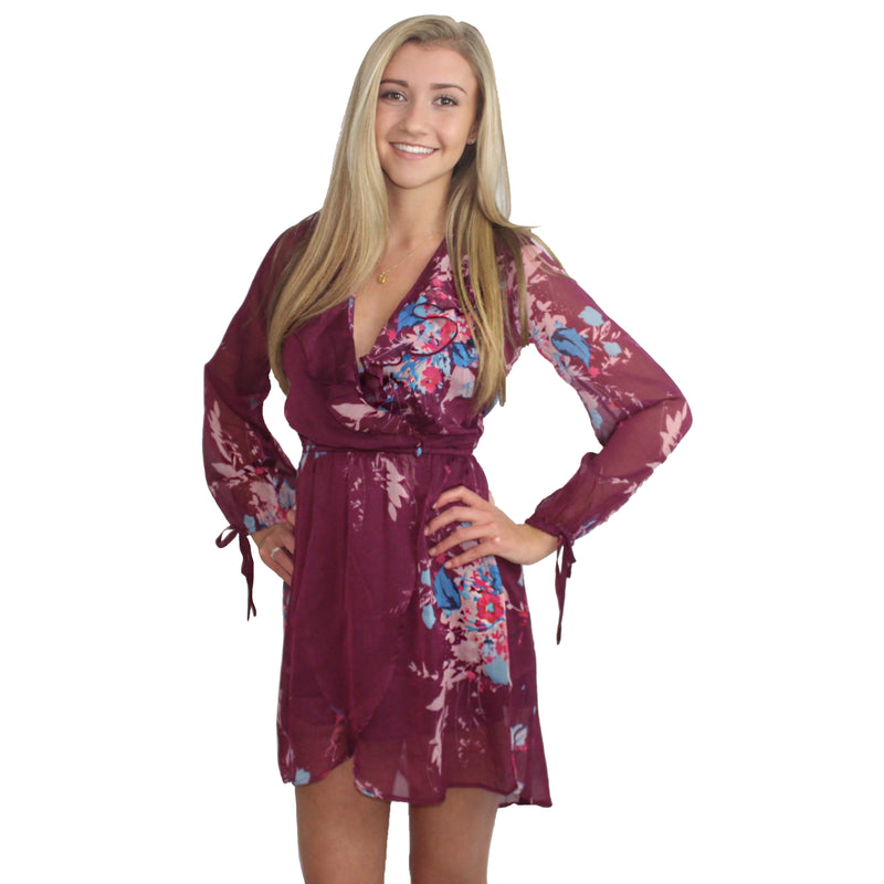 Bouquet Floral Wrap Dress by Band of Gypsies