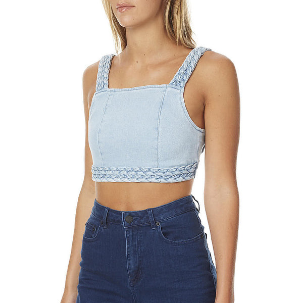 Double Dutch Braided Denim Top by MINKPINK