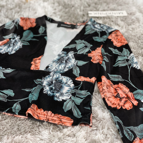 Garden of Eden Velvet Crop Top by MINKPINK