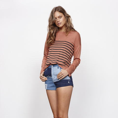 Soul Patch Denim Mini Short by MINKPINK