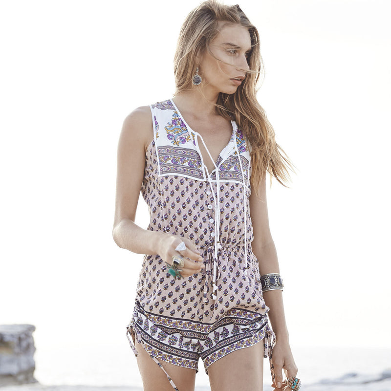 Boho is Best Sleeveless Romper by Auguste