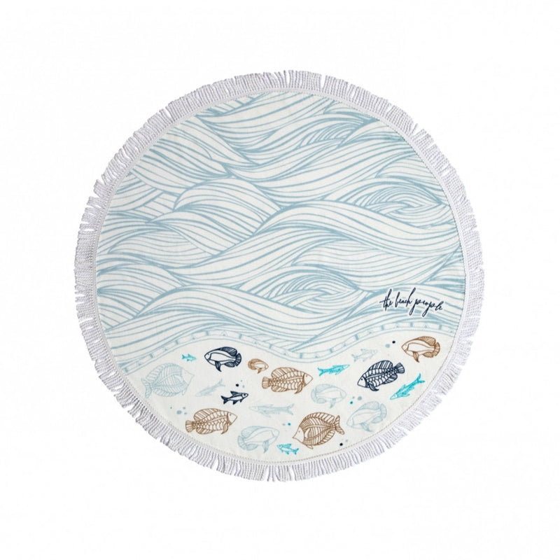 Oceanic Petite Round Towel by The Beach People