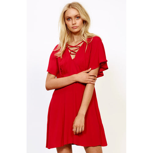 Hot Springs Lace Up Dress by MINKPINK