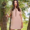 Lace Up Safari Dress by Kendall + Kylie