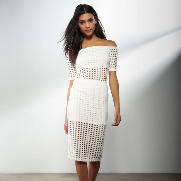 Laser Cut Out Off The Shoulder Top by Kendall + Kylie