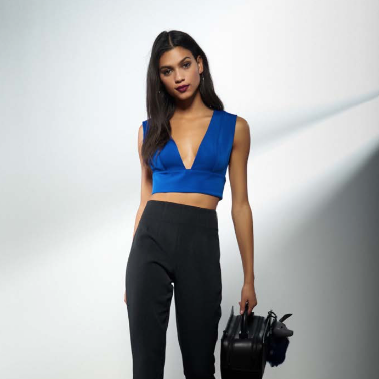 Deep Plunge Crop Top by Kendall + Kylie