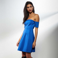 Off Shoulder Seamed Dress by Kendall + Kylie