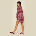 Shirt Dress in Garnet Plaid by Blue Life