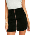 Feelin It Suede A-line Skirt by MINKPINK