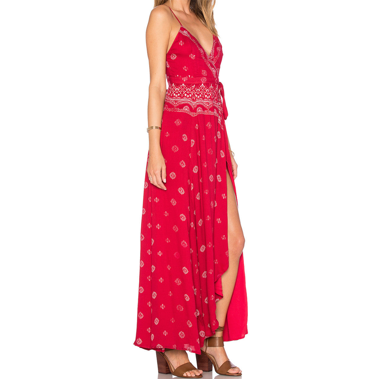 Fuego Maxi Dress in Red The Jetset Diaries
